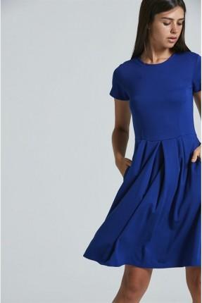 فستان سبور نص كم مع كسرات