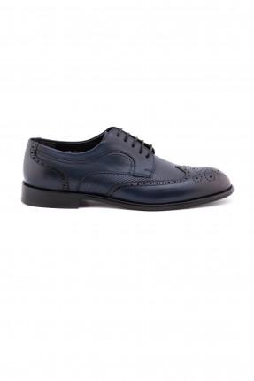 حذاء رجالي منقش - ازرق داكن