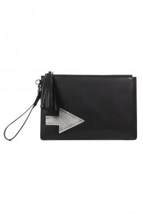 حقيبة يد نسائية صغير مطبوعة سهم سبور - اسود