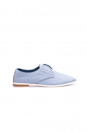 حذاء نسائي بشكل مدبب من الامام - ازرق