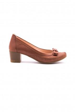 حذاء نسائي بكعب - بني