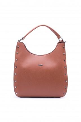حقيبة يد نسائية رسمية كبيرة - بني