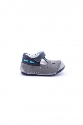 حذاء اطفال ولادي - رمادي
