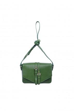 حقيبة يد نسائية مزينة باحزمة مزدوجة سبور - اخضر