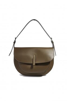 حقيبة يد نسائية بغطاء ناعمة شيك - بني