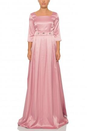 فستان طويل مزين من الخصر الماس رسمي