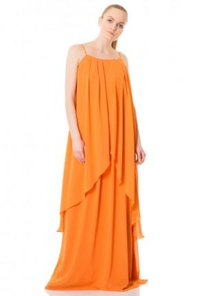 فستان بروتيل شيفون فضفاض طويل سبور