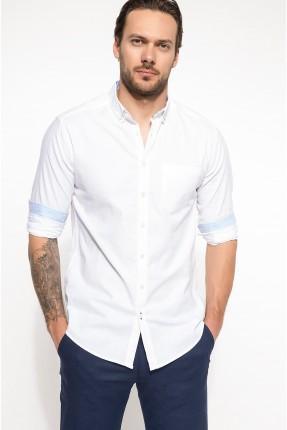 قميص رجالي بازرار - ابيض