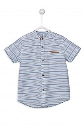 قميص اطفال ولادي كم قصير ياقة مدورة