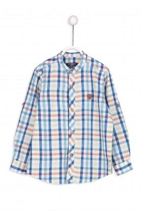 قميص اطفال ولادي كارو كم طويل