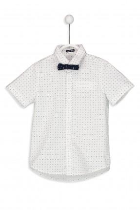 قميص اطفال ولادي منقط مع فيونكة