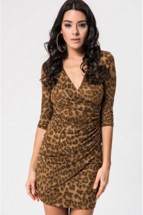 فستان رسمي بنقشة جلد النمر