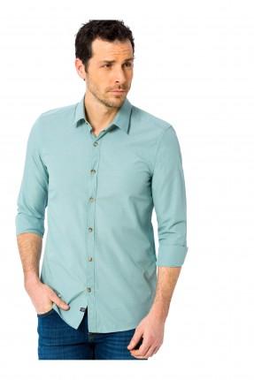 قميص رجالي سادة سبور - اخضر