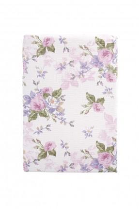 بطانية سرير مزدوج - نقشة ورود