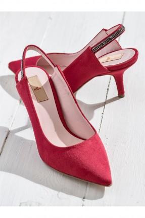 حذاء نسائي بكعب - احمر