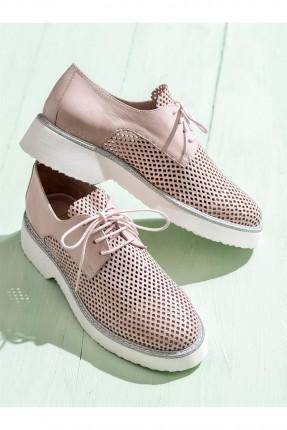 حذاء نسائي مفرغ - وردي