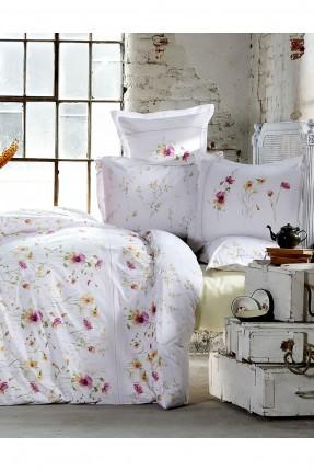 طقم غطاء سرير مزدوج - نقشة ورود / 3 قطع /