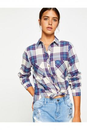 قميص نسائي كارو طويل