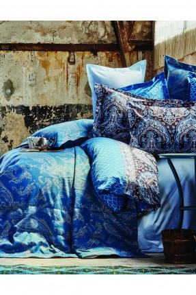 طقم غطاء سرير مزدوج - لون تركواز / قطعتين /