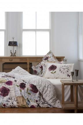 غطاء سرير مزدوج مع طبعات من قياس 250 * 260 سم