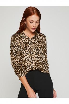 قميص نسائي بنقشة جلد النمر