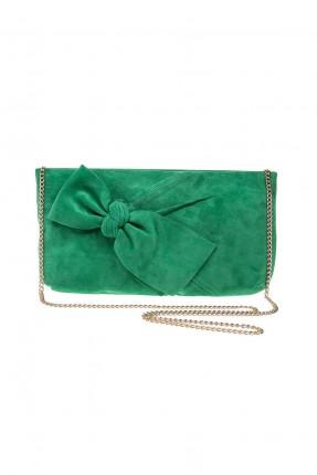 حقيبة يد نسائية مع عقدة - اخضر