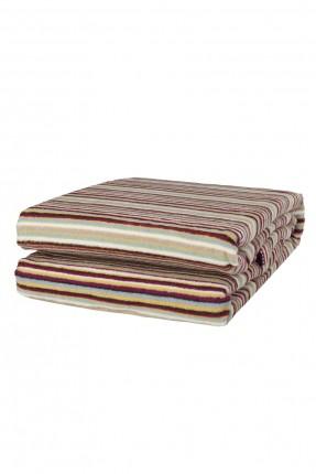 بطانية سرير مزدوج مقلمة