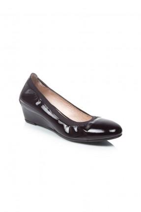 حذاء نسائية جلد - اسود