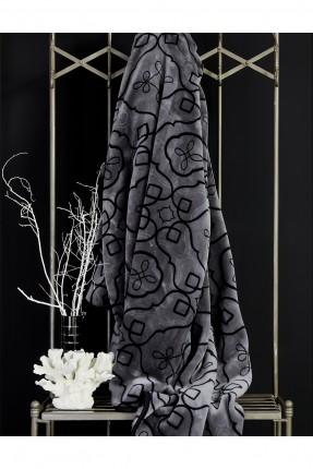 بطانية سرير مزدوج - نقش اسود