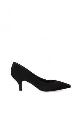 حذاء نسائي بكعب صغير - اسود