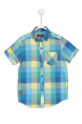 قميص اطفال ولادي نص كم كارو ملون