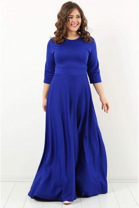 فستان طويل سادة رسمي - ازرق