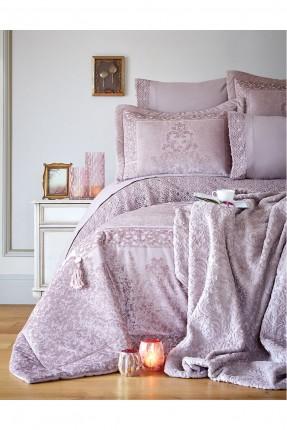 طقم سرير مزدوج بنقوش فاخرة / قطعتين /