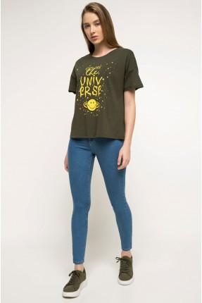 بنطال نسائي جينز موديل سكيني - ازرق