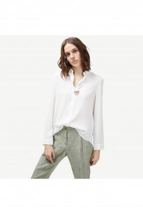 قميص نسائي كلاسيكي - ابيض