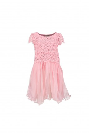 فستان اطفال بناتي دانتيل مع تول