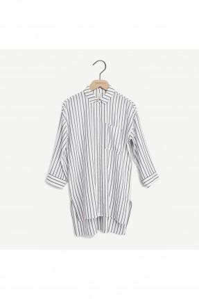 قميص نسائي مقلم طويل