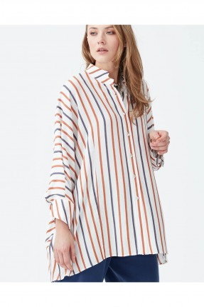قميص نسائي فضفاض مخطط  سبور شيك