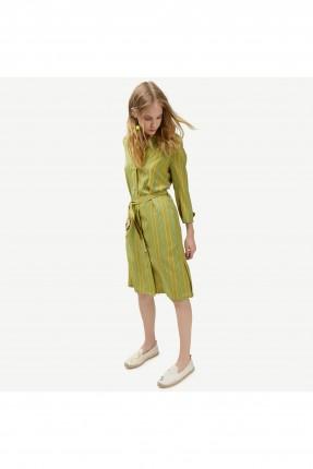 فستان نسائي كم طويل ربط عند الخصر