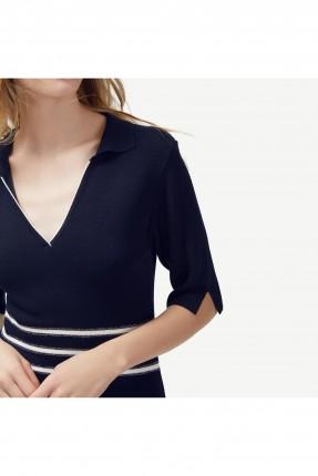 فستان نسائي رسمي ياقة V