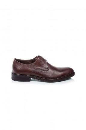 حذاء رجالي جلد مبوز من الامام