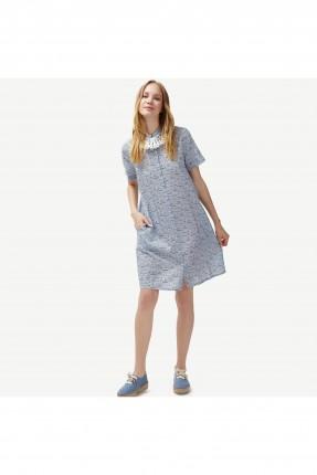 فستان نسائي موديل قميص منقش