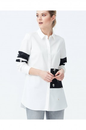 قميص نسائي مزين باشرطة سبور