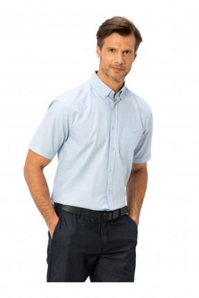 قميص رجالي نص كم مع جيب