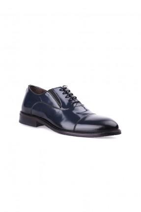 حذاء رجالي جلد ذو لمعة - ازرق داكن