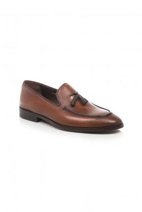 حذاء رجالي جلد شيك - بني