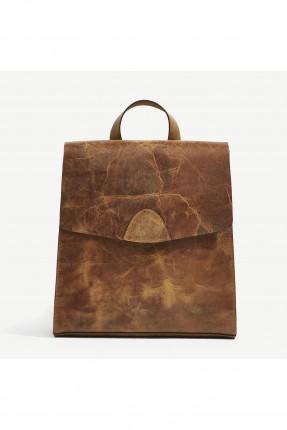 حقيبة نسائية على الظهر - بني