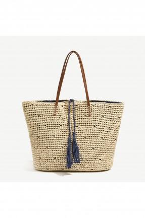 حقيبة يد نسائية بشراشيب من الامام