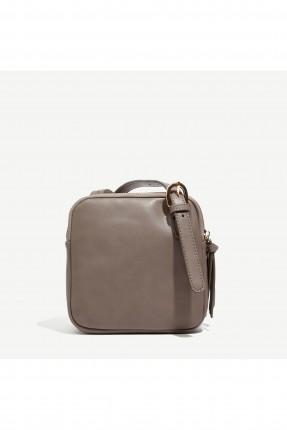 حقيبة يد نسائية موديل حزام من الامام - فضي