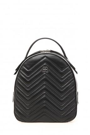 حقيبة ظهر نسائية جلد - اسود